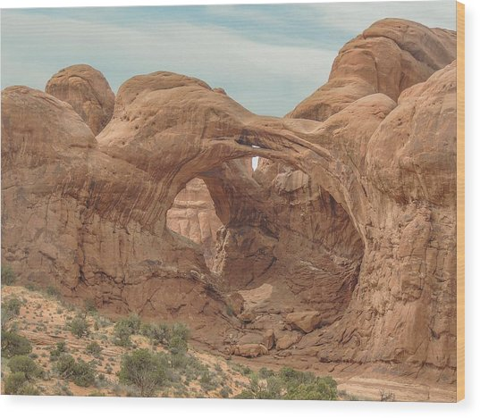 Double Arch  Wood Print