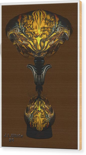 Double Lamp Wood Print by Jerry White