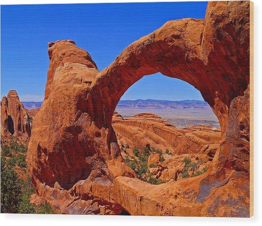 Double O Arch Landscape Wood Print