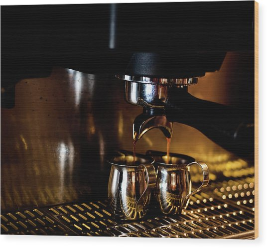 Double Shot Of Espresso 2 Wood Print