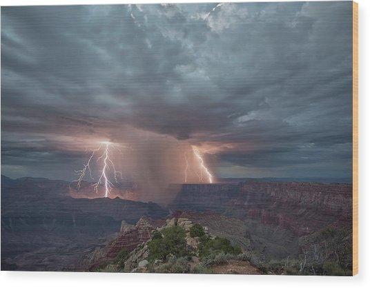 Double Strike Canyon Wood Print