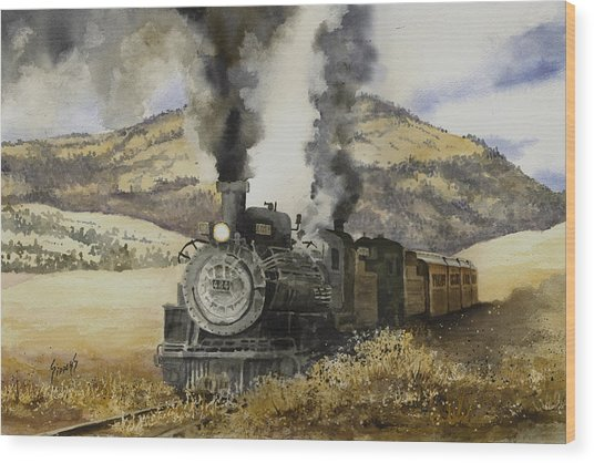 Double Teamin To Cumbres Pass Wood Print