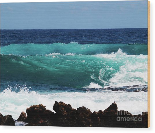 Double Waves Wood Print