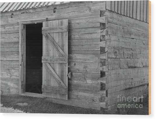 Doucet Barn Wood Print by Lionel F Stevenson