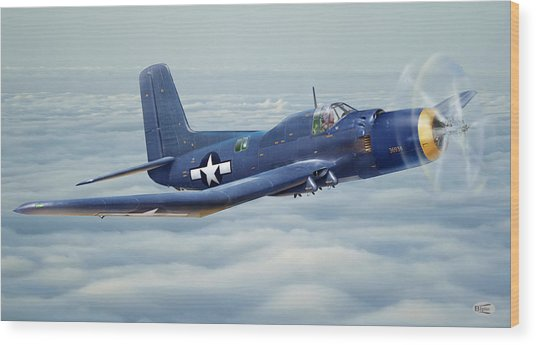 Douglas Skypirate In Flight Wood Print by Alex Arkhipau
