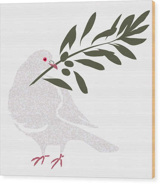 Dove Of Peace Wood Print