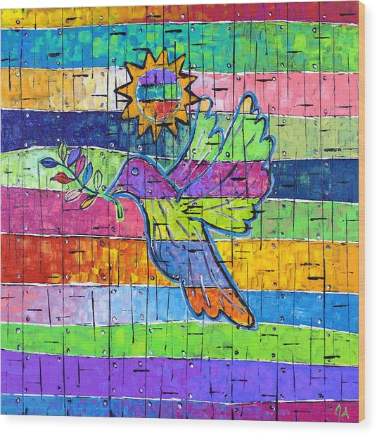 Dove Of Peace, Color And Light Wood Print