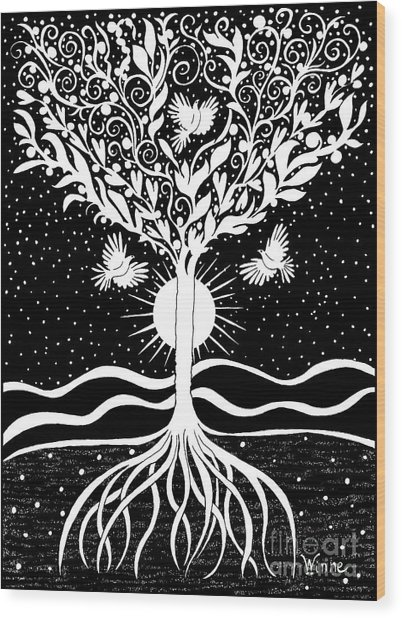 Dove Tree Wood Print