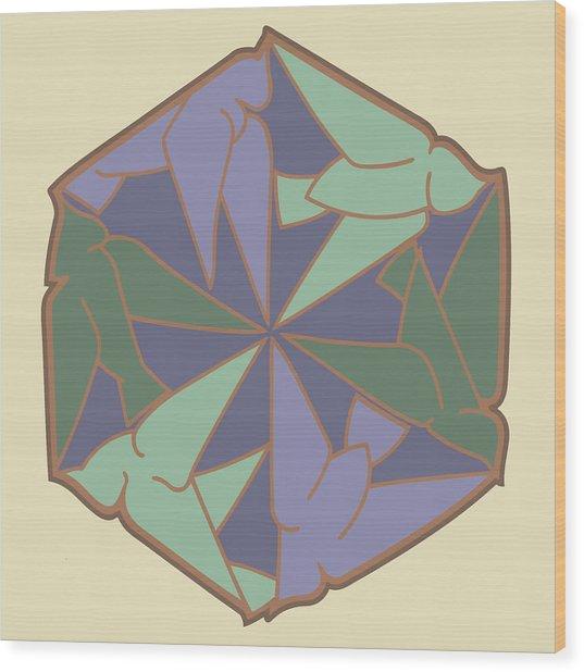 Doves Logo Color Wood Print