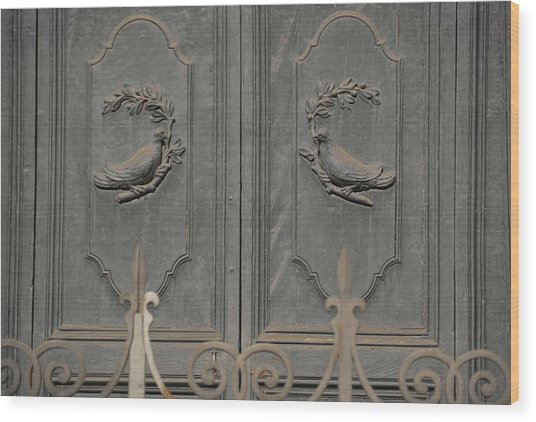 Doves On The Doorway Wood Print by JAMART Photography