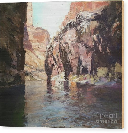 Down Stream On The Mighty Colorado River Wood Print