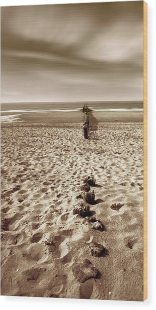 Down The Shore Wood Print