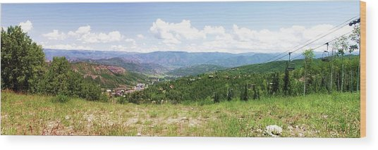 Down The Valley At Snowmass #2 Wood Print
