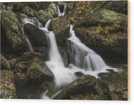 Downhill Flow Wood Print