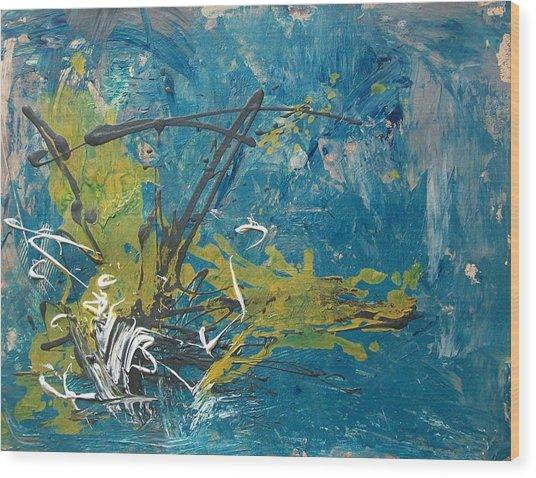 Downpour Wood Print