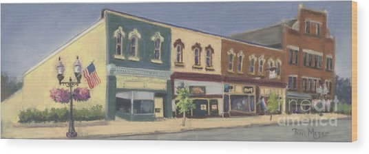 Downtown Ashland Ohio Wood Print by Terri  Meyer