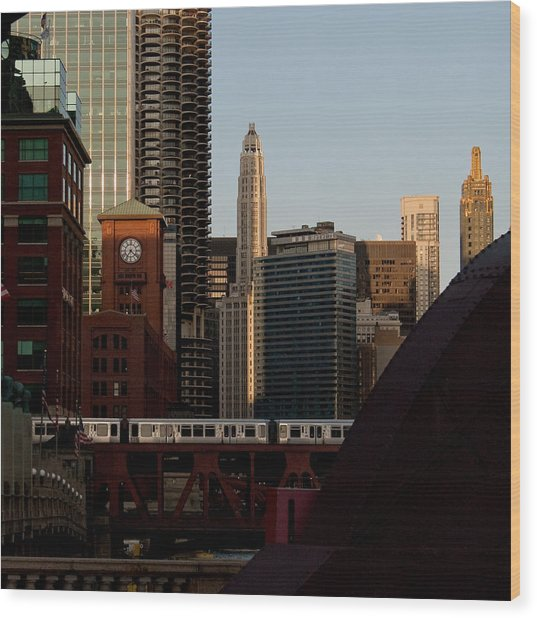 Downtown Chicago Wood Print