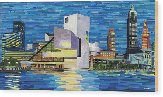 Downtown Cleveland Skyline  Wood Print