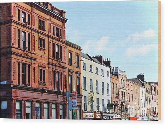 Downtown Dublin Wood Print