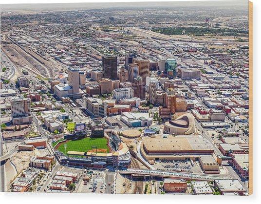 Downtown El Paso Wood Print