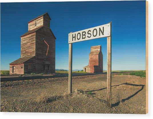 Downtown Hobson, Montana Wood Print