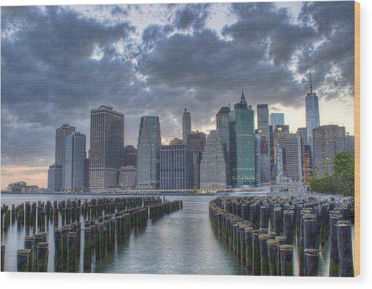Downtown Manhattan Wood Print by Zev Steinhardt