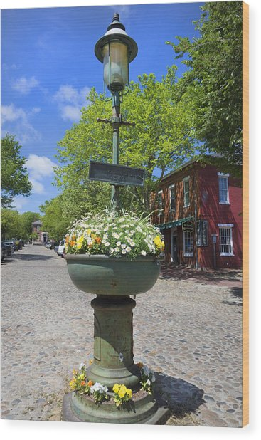 Downtown Nantucket - Garden View 46y Wood Print