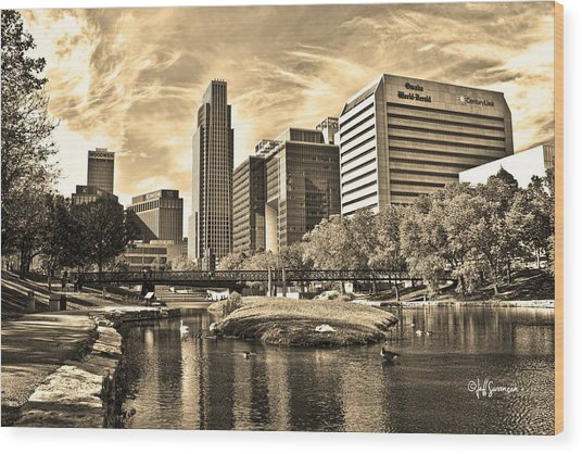 Downtown Omaha Nebraska Wood Print