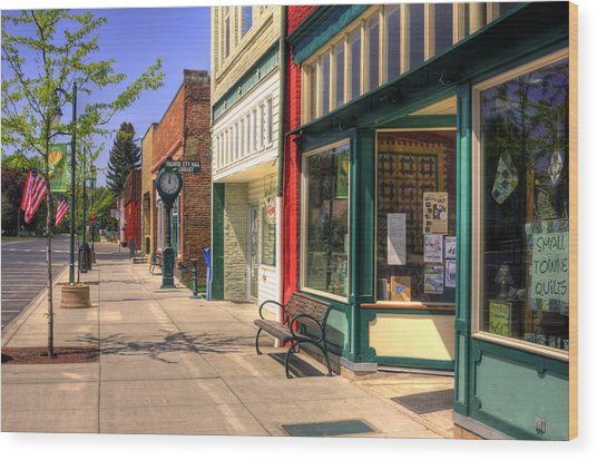 Downtown Palouse Washington Wood Print