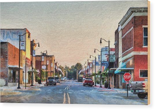 Downtown Paragould Wood Print by JC Findley