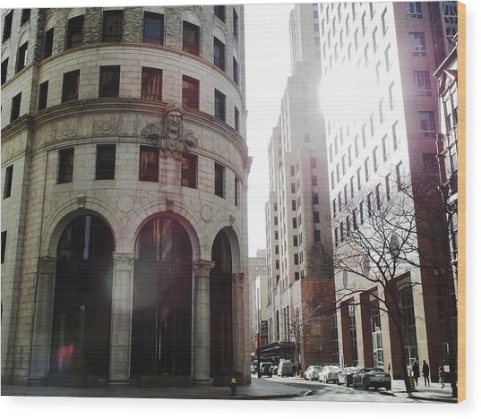 Downtown Providence Wood Print