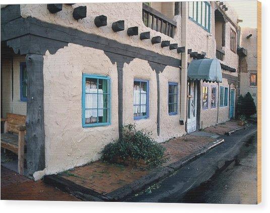 Downtown Santa Fe Wood Print
