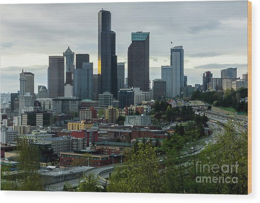 Downtown Seattle,washington Wood Print