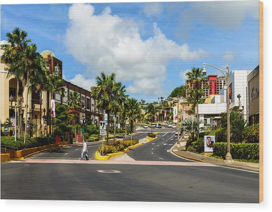 Downtown Tamuning Guam Wood Print