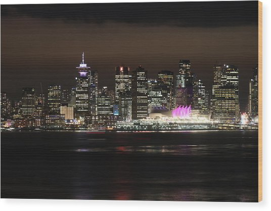 Downtown Vancouver Wood Print