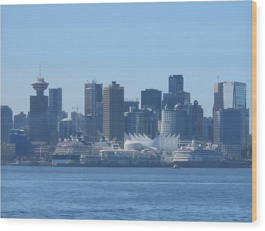 Downtown View From North Vancouver Wood Print