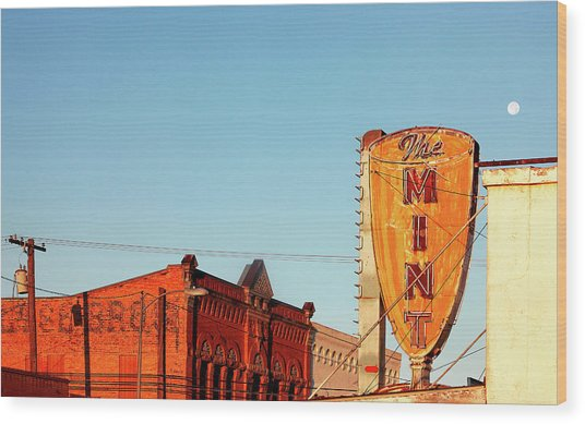 Downtown White Sulphur Springs Wood Print