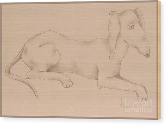 Doxies, Bad To The Bone Wood Print