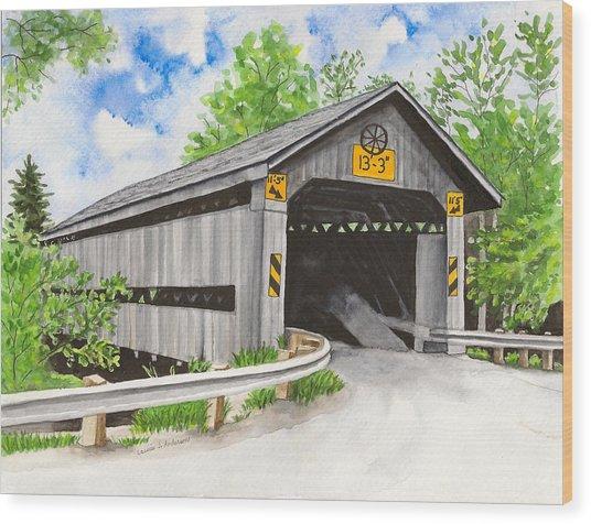 Doyle Road Bridge Wood Print