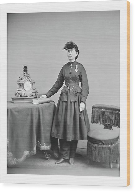 Dr. Mary Walker Wood Print