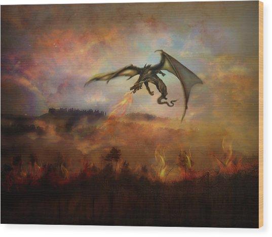 Dracarys Wood Print