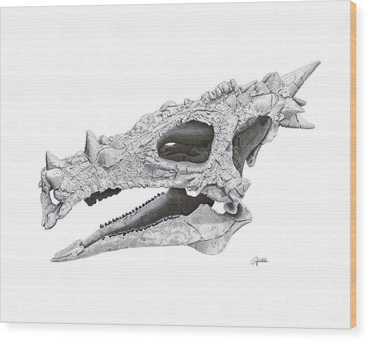 Dracorex Hogwartsia Skull Wood Print