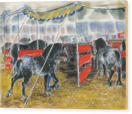 Drafts At The Fair Wood Print by Mary Armstrong