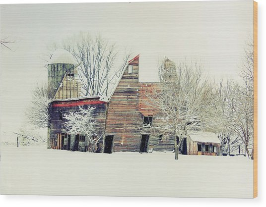 Drafty Old Barn Wood Print