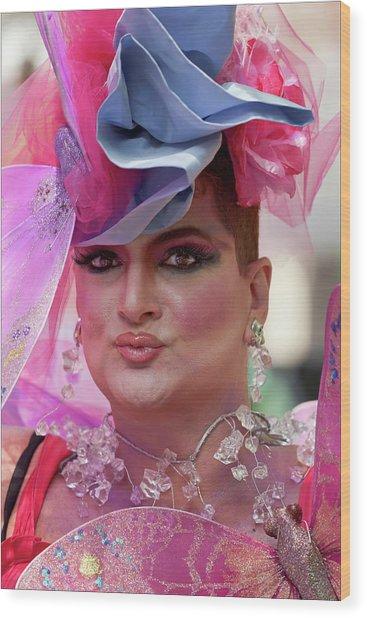 Drag Queen Gay  Pride Parade Nyc 6 27 10 Wood Print