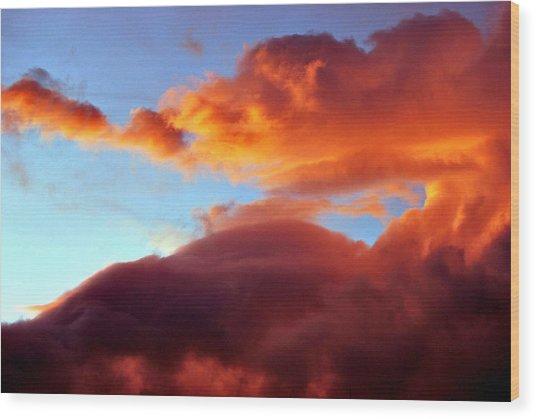 Dragon Cloud Wood Print