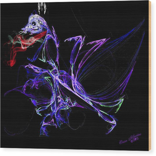 Dragon Dance Wood Print