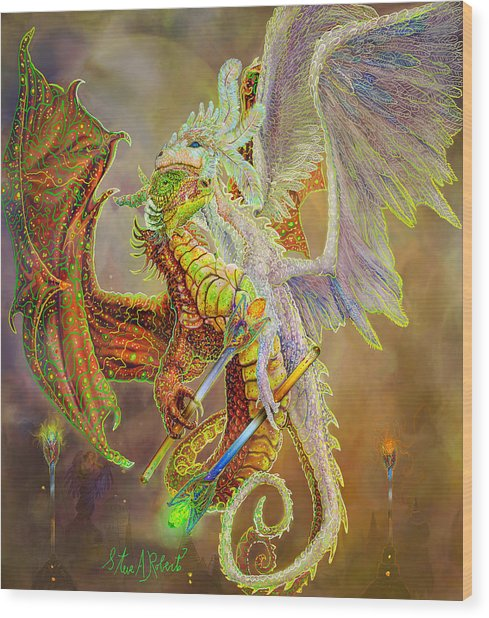 Dragon Dancers Wood Print