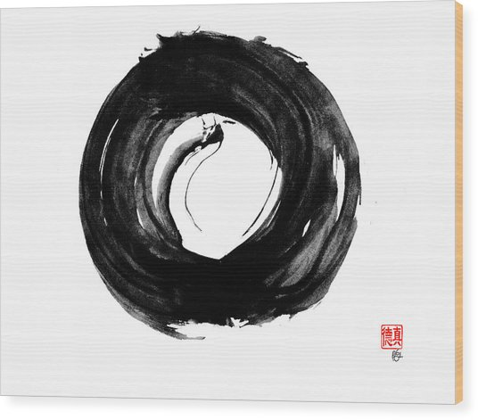 Dragon Enso Wood Print