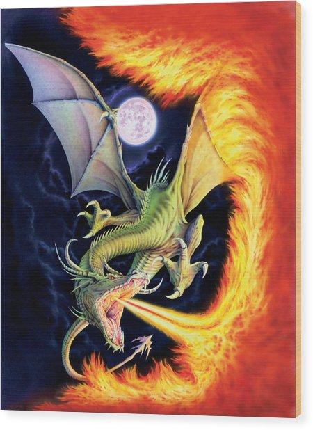 Dragon Fire Wood Print